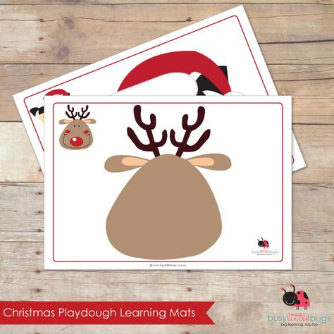 Christmas Playdough mats, set of 9 gorgeous Christmas Characters by Busy Little Bugs