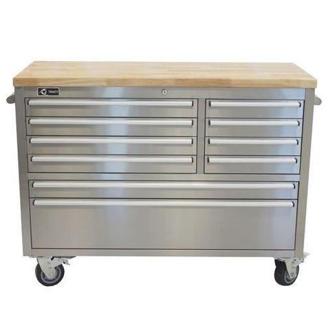 Fine Storage Cabinet Workbench Garage Rolling Toolbox Stainless Uwap Interior Chair Design Uwaporg