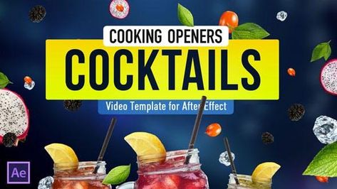 Cooking Cocktail Recipes Video Template - After Effects Template