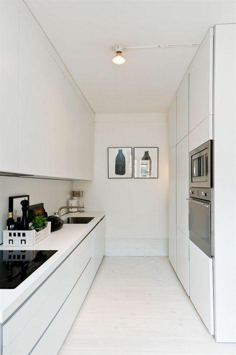 kleine küche einrichten minimalistische küchenideen Küche Möbel - k chenzeile ohne oberschr nke