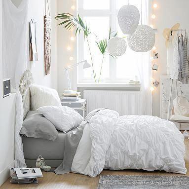 Ruched Diamond Organic Duvet Cover Sham Bed Linens Luxury Bedroom Design Bedroom Decor