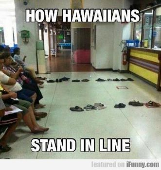 """""""Standing"""" in line . . ."""