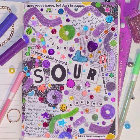Sour Album Journal Page