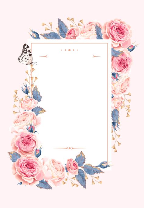 Climbing Roses - Wedding Invitation Template (free) | Greetings Island