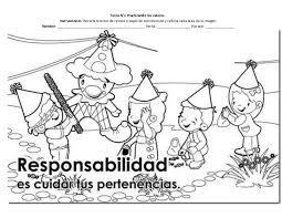 Resultado De Imagen Para Los Valores Morales Dibujar Y Colorear