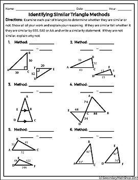 Methods Of Proving Triangles Similar Quick Check Freebie Method This Or That Questions Freebie