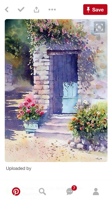 Epingle Par Mary Hayes Sur Watercolor Cards Aquarelle Dessin