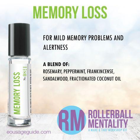 Memory Loss Rollerball Mentality Blend great for #memory #alertness