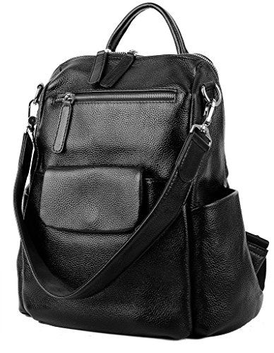 be7cc280ced3 YALUXE Women's Convertible Leather Shoulder Bag Versatile Backpack ...