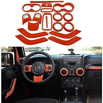 Amazon Com Upgrade Version Opall Full Set Interior Decoration Trim Kit Steering Wheel Center Console Air Outlet Trim Jeep Wrangler Jk Trim Kit Jeep Wrangler