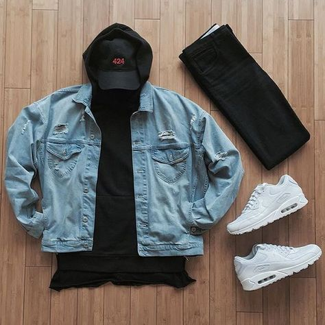Men's Best Streetwear Hoodies and Sweatshirts for 2018 Finding the perfect streetwear hoodie and sweatshirts to wear in 2018 won't be an easy task. It's a new year and there are new fashion trends that [. Swag Outfits, Mode Outfits, Casual Outfits, Men Casual, Fashion Outfits, Hype Clothing, Mens Clothing Styles, Fashion Mode, Mens Fashion