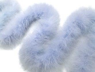 2 Yards Light Blue Turkey Medium Weight Marabou Feather Boa 25 Gram Feather Boa Medium Weight Feather