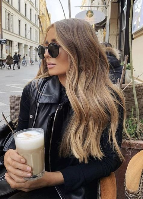 Brown Hair Balayage, Hair Color Balayage, Bronde Haircolor, Natural Blonde Balayage, Honey Balayage, Ombre Hair, Hair Inspo, Hair Inspiration, Hijab Fashion Inspiration