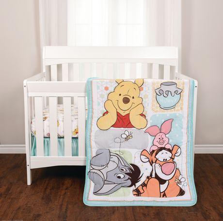 Winnie The Pooh 3 Piece Crib Bedding Set Walmart Canada Winnie The Pooh Nursery Girl Nursery Bedding Winnie The Pooh Bedding