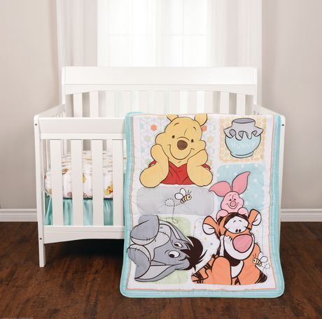 Winnie The Pooh 3 Piece Crib Bedding Set Walmart Canada Winnie