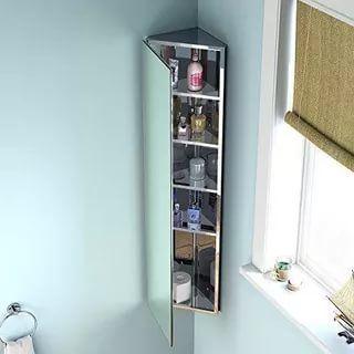 23 Stunningly Corner Shelf Ideas A Guide For Housekeeping Mirror Cabinets Corner Mirror Corner Bathroom Mirror