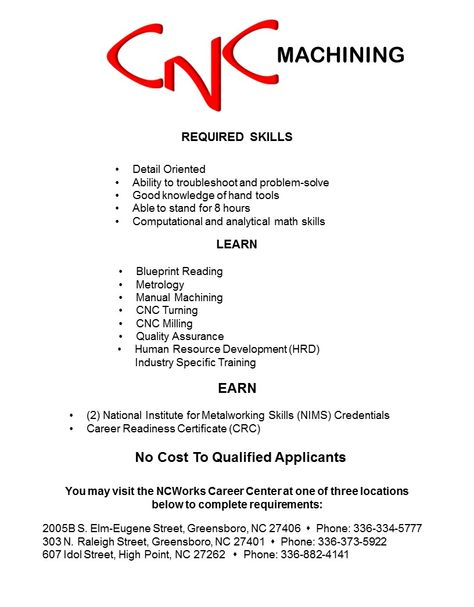 Cnc flyer page 1 career development pinterest career development malvernweather Image collections