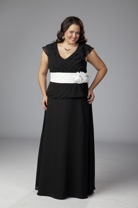 This mock 2 piece is the perfect #motherofthebride plus ...