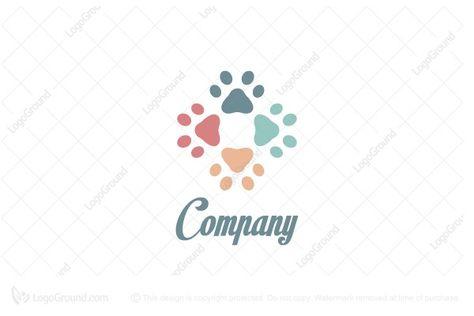 Four Paws Pet Store Logo Pet Grooming Business Pet Store Pet Clinic