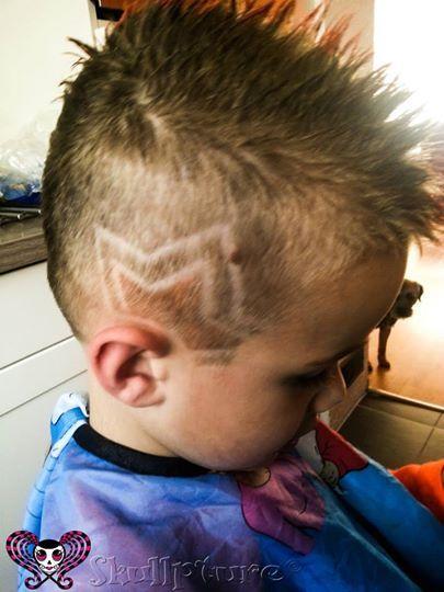 Star Hair Designs : designs, Little, Design, Hairtattoo, Www.facebook.com/skullpturehair, Crazy, Boys,, Designs,