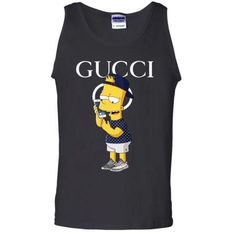 4771d20461c2 Gucci Bart Simpson Yeezy V-Neck T-Shirt - UnicornAZ - Fortnite ...
