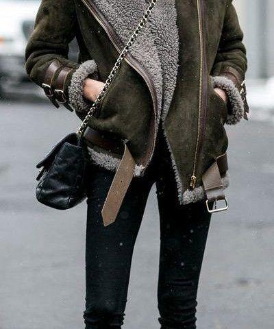 صور أزياء فصل الشتاء سيدات مصر Leather Jacket Casual Fashion
