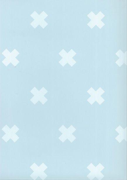 Behang Kinderkamer Crosses Blauw Wit Fabs World Behang Wit Behang Kinderkamer Behang