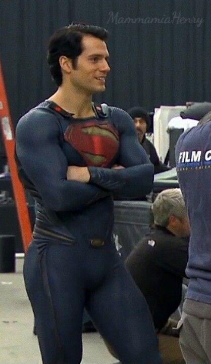 Henry Cavill filming Man of Steel last year. He's at it again working on Batman Vs Superman.