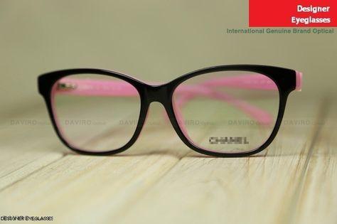 536c07a671 Chanel 3284-Q full-rim lady s eyewear frame black frame pink leg ...