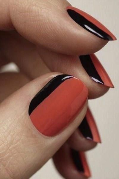 Neutralnail Pinterest Photos Color Block Nails Ideas Best