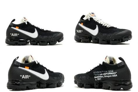 the best attitude d101a 088e3 Most Popular THE 10 NIKE AIR VAPORMAX FK OFF WHITE black white clear aa3831  001
