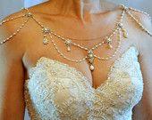 Etsy Roundup: Bridal Backdrop Necklaces: Bridal Backdrop Neck and Shoulder necklace by My Little Bride