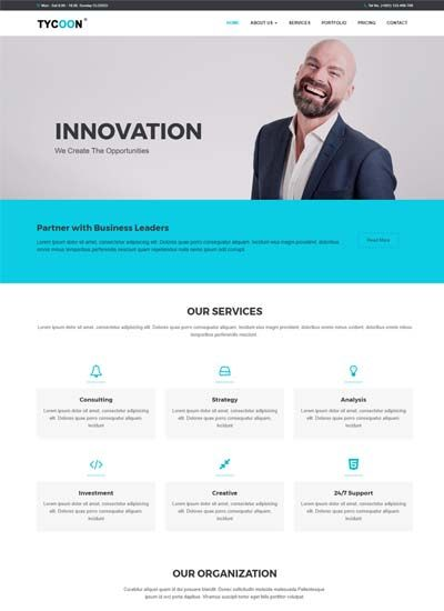 Corporate Bootstrap Html Website Template In 2020 Website Template Simple Website Templates Free Website Templates