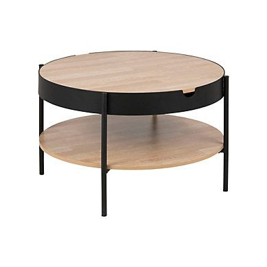 Table Rectangle 1 Allonge Camden Noir Table Basse