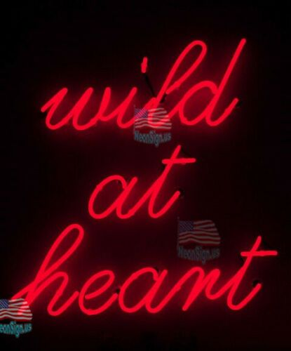 Wild At Heart Red Acrylic Neon Light Sign 14