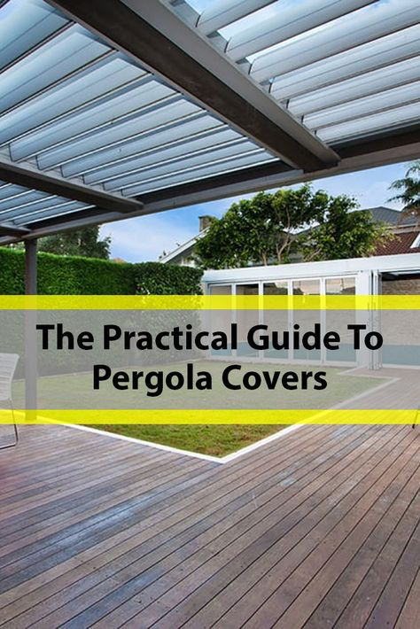 This modern house calls for a straight lined pergola, and it can only be covered by a rigid material. A simple geometric shape is the best approach.The whole area is intended to be a summer spot, so only slight shading is needed.