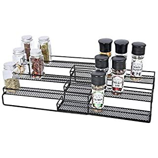 Amazon Com Seville Classics Iron Slat Expandable Kitchen Counter And Cabinet Shelf Platinum Home Kitchen Kitchen Counter Slats Adjustable Shelving
