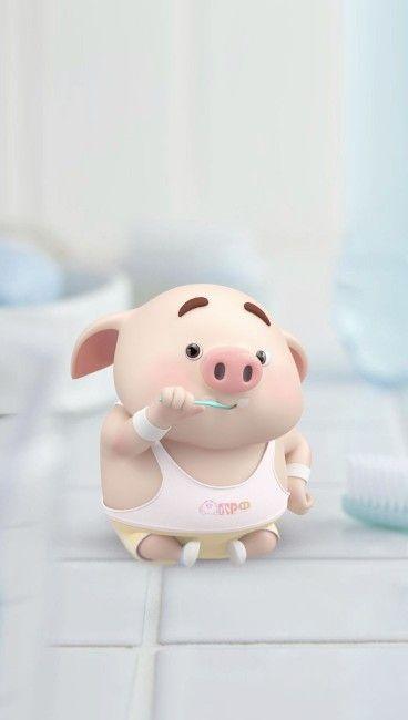 Pin Von Anja Doberenz Auf Hintergrund Schwein Illustration Kleine Schweine Niedliche Ferkel