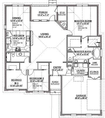 Affordable Custom House Home Blueprints Plans 3 Bedrooms 1884 Sf Pdf Building Plans House House Blueprints Custom Homes