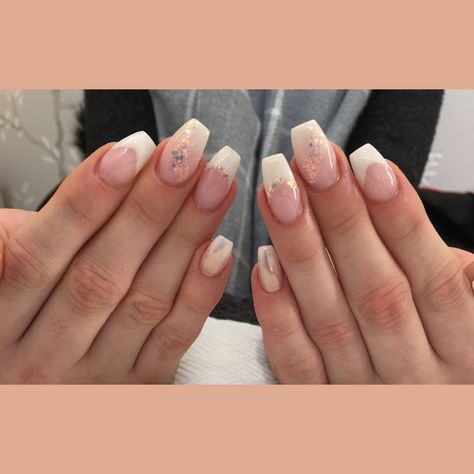 nails French mix up with baby...