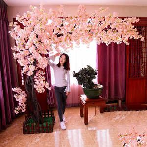 Source Indoor Decoration 2m Artificial Pink Silk Cherry Blossom Trees For Sale On M Al Artificial Cherry Blossom Tree Blossom Tree Wedding Cherry Blossom Theme