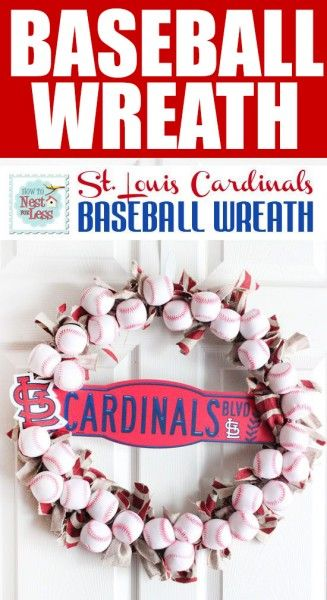DIY baseball wreath!  Perfect for summer!