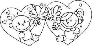 Resultado De Imagen Para Imagenes Del Amor Y La Amistad Para Colorear Para Ninos Dibujos De San Valentin Tarjetas De San Valentin Para Ninos Tarjetas De Ninos