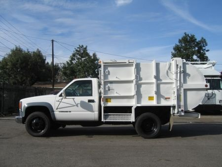 2002 Chevy 3500hd With Pak Rat 6yd Side Loader Refuse Truck Trucks Garbage Truck Trucks For Sale