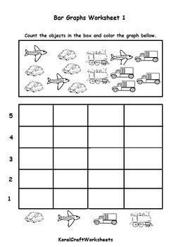 Kindergarten Bar Graph Worksheet 1 | Math activities, Ocean ...