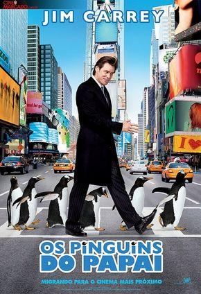 Os Pinguins Do Papai Com Imagens Jim Carrey Pinguins Cartaz