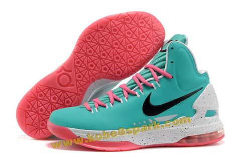 12933c10667 Nike Zoom KD V 5 ID Sky Blue White Pink Black Kevin Durant Shoes 2012 Onlin