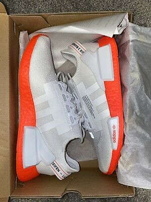 Ebay Sponsored Adidas Nmd R1 V2 Shoes White White Orange Men S Size 10 In 2020 Adidas Nmd R1 Adidas Nmd Men S