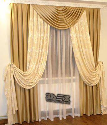 modern living room curtains designs