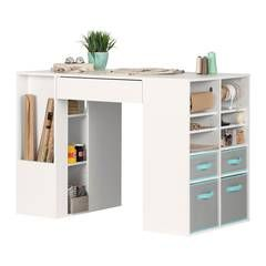 Whatever You Re Into Be It Crafts Sewing Or Jewelry Making Every Artist Needs A Dedicated Work Sp Craft Tables With Storage Craft Table Craft Room Design